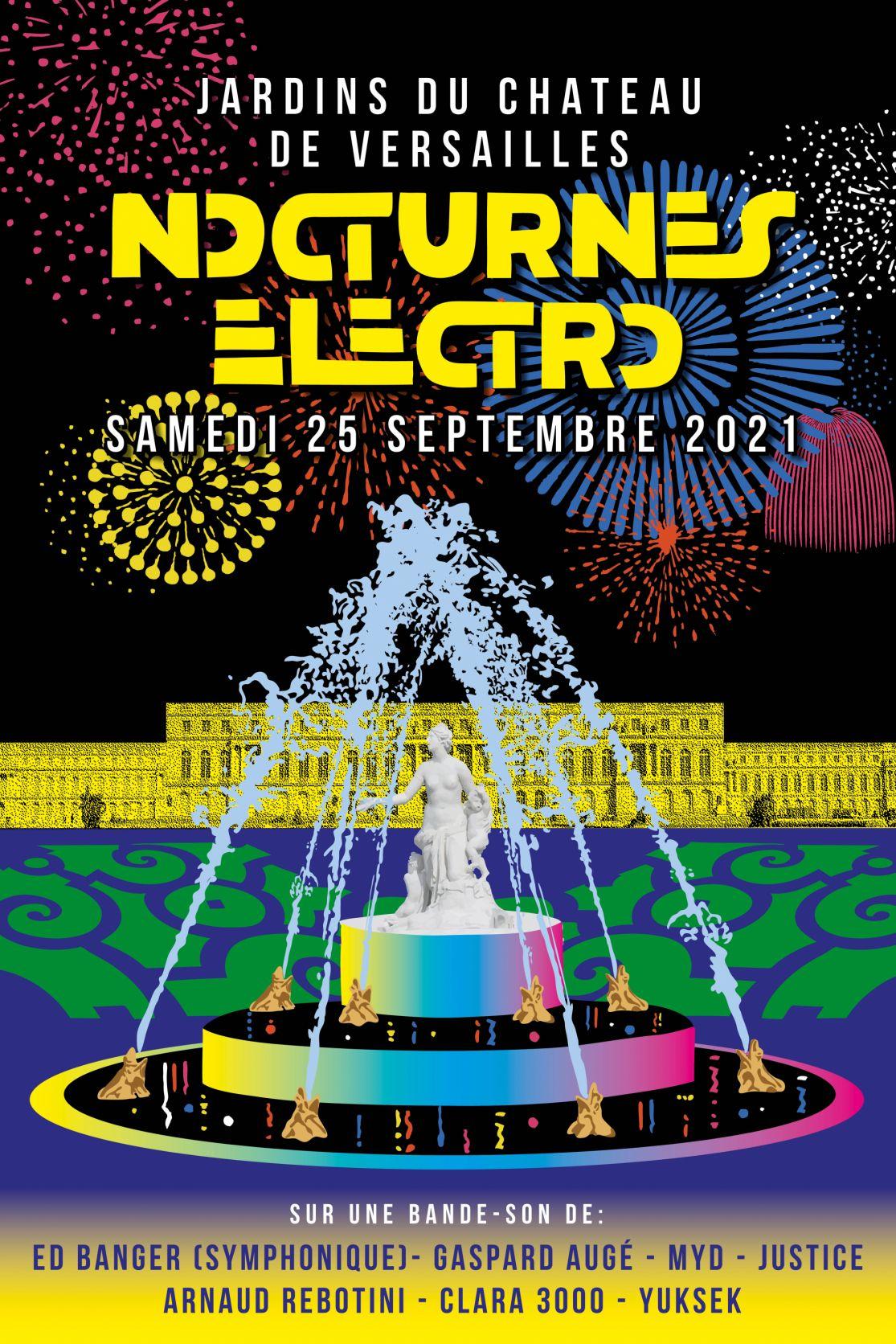 Affiche Nocturnes Électro Versailles